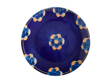 Majolica Dinner Plate 27cm Ink Blue