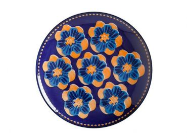 Majolica Side Plate 20cm Ink Blue