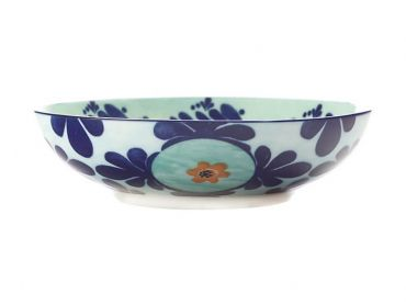 Majolica Coupe Bowl 20cm Teal