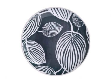 Panama Side Plate 20cm Grey & White