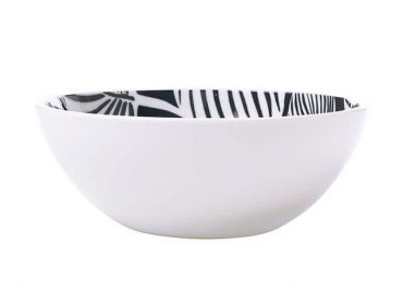 Panama Bowl 16cm Grey & White