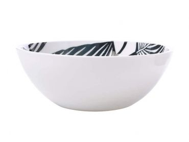 Panama Bowl 16cm White & Grey
