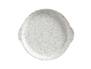Caviar Speckle Plate with Handle 20x22.5cm