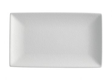 Caviar White Rectangle Platter 27.5x16cm