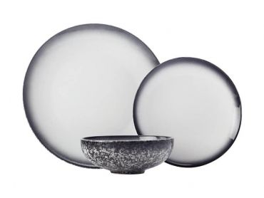 Caviar Granite Dinner Set 12 Piece