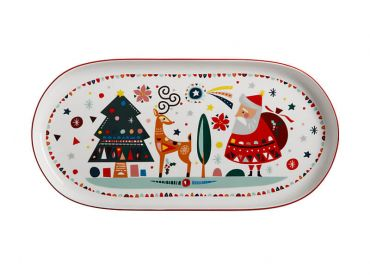 Festive Friends Oblong Platter 40x19cm Gift Boxed
