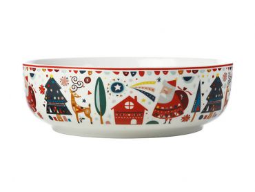 Festive Friends Round Bowl 25cm Gift Boxed