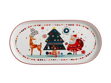 Festive Friends Oblong Platter 30x15cm Gift Boxed