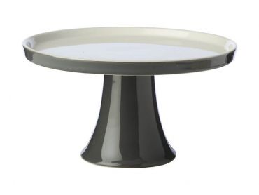 Mezze Cake Stand 20cm Charcoal Gift Boxed