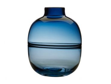 Flourish Orbit Vase 25cm Blue