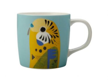 Pete Cromer Mug 375ML Budgerigar