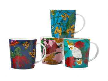 Native Australia Mug Set of 4 330ML