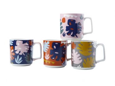 Monstera Mug 360ML Set of 4