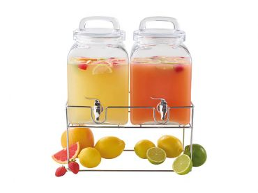 Refresh Double Cube Drink Dispenser with Stand 2X5L Gift Boxed
