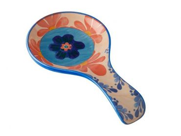 Majolica Spoon Rest Peach