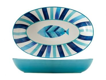 Reef Oval Serving Bowl 42x26cm