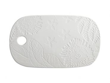 Panama Cheese Platter 40x23cm White Gift Boxed