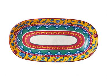Rhapsody Oblong Bowl 43x22cm Red Gift Boxed
