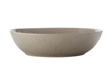 Dune Oval Serving Bowl 32x27cm Taupe Gift Boxed