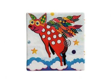 Smile Style Ceramic Tile Coaster Pigasus 9cm