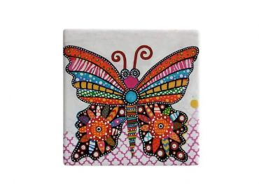 Smile Style Ceramic Tile Coaster Flutter 9cm