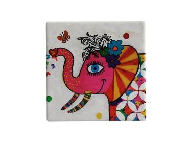 Smile Style Ceramic Tile Coaster Princess 9cm