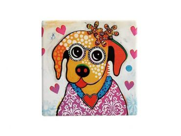 Smile Style Ceramic Tile Coaster Posey 9cm