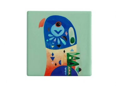 Pete Cromer Ceramic Square Tile Coaster Lorikeet 9.5cm