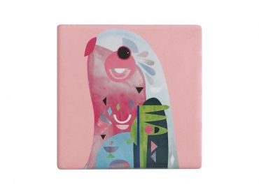 Pete Cromer Ceramic Square Tile Coaster Parrot 9.5cm