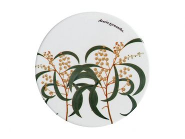 Royal Botanic Gardens Ceramic Round Coaster 9.5cm Wattle