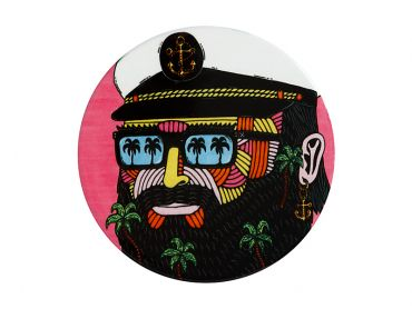 Mulga the Artist Ceramic Round Coaster 10.5cm Captain