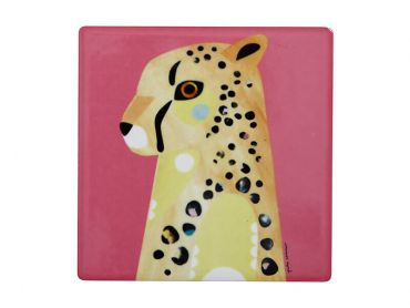 Pete Cromer Wildlife Ceramic Square Coaster 9.5cm Cheetah
