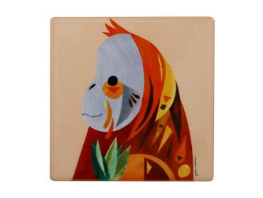 Pete Cromer Wildlife Ceramic Square Coaster 9.5cm Orangutan