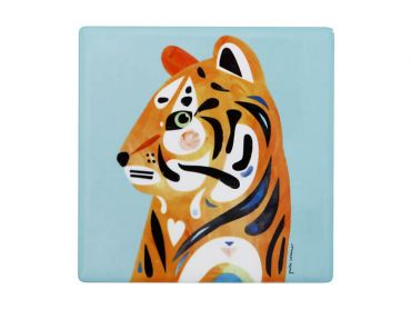 Pete Cromer Wildlife Ceramic Square Coaster 9.5cm Tiger