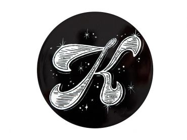 "The Letterettes Ceramic Round Coaster 10.5cm ""K"" Gift Boxed"