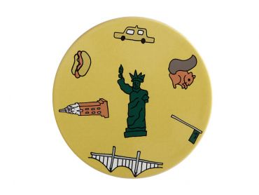 Megan McKean Cities Ceramic Round Coaster 10.5cm New York