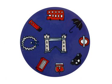 Megan McKean Cities Ceramic Round Coaster 10.5cm London