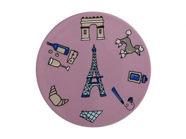 Megan McKean Cities Ceramic Round Coaster 10.5cm Paris