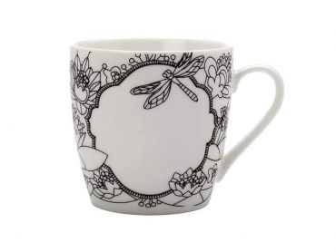 Mindfulness Messages Paint-Your-Own Mug Dragonfly 470ML