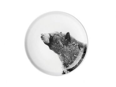 Marini Ferlazzo Plate 20cm Asiatic Black Bear