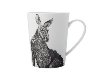 Marini Ferlazzo Mug 450ML Tall Red Kangaroo