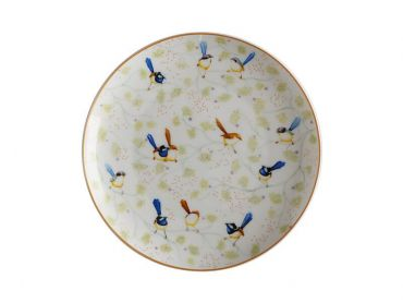 Cashmere Wrens & Friends Plate 20cm Superb Fairy & Purple-crowned Fairy Wren