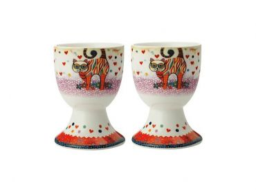 Smile Style Egg Cup Set of 2 Tabby