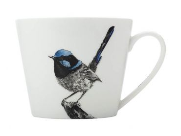 Marini Ferlazzo Birds Mug 450ML Sqt Superb Fairy-wren