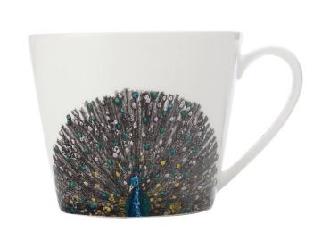 Marini Ferlazzo Birds Mug 450ML Sqt Indian Peacock