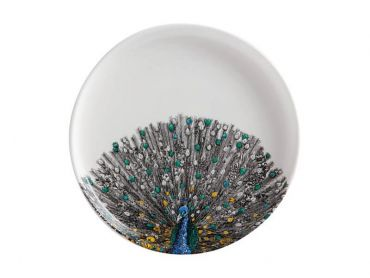 Marini Ferlazzo Birds Plate 20cm Indian Peacock