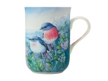 Birds of Australia 10 year Anniversary Mug 300ML Rose Robin