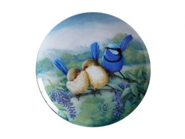 Birds of Australia 10 year Anniversary Plate 20cm Splendid Fairy Wren