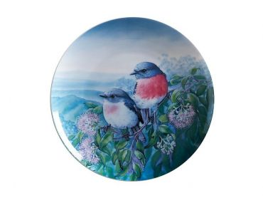 Birds of Australia 10 year Anniversary Plate 20cm Rose Robin