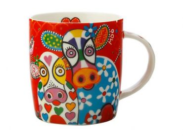 Love Hearts Mug 370ML Happy Moo Day